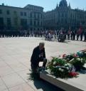 Andrzej Pruszkowski (Dyrektor Wojewódzkiego Urzędu Pracy w Lublinie) podczas składania wieńca pod pomnikiem Nieznanego Żołnierza w Lublinie w dniu 1 września 2019 roku