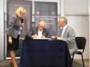 Podpisanie partnerstwa- Prezes Stowarzyszenia Nowa Szansa w Zamościu- Pan Kazimierz Wojtowicz
