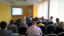 Uczestnicy spotkania w Chełmie - organizowanego przez Wojewódzki Urząd Pracy w Lublinie Wydział Programowania i Kontroli PO KL i RPO WL