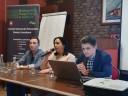 Koordynator projektu Młodzi na podbój rynku pracy Pani Barbara Kot i jego uczestnicy PanTomasz Wawryn i Piptr Kahan