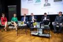 Uczestnicy Panelu -I. Mazur, M. Misiaszek, S. Marciniuk, M. Fatyga, S. Serwatka, K. Madejek, P. Bącal