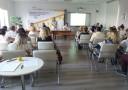 Witająca gości Pani Katarzyna Tokarczuk (p.o. Wicedyrektora ds. EFS w WUP Lublin) oraz uczestnicy spotkania